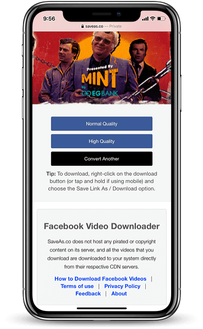 download Facebook video iphone step 07-08